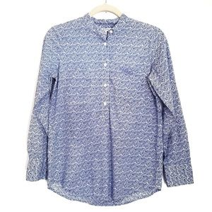 MADEWELL Half Button Front Floral Top Size XS